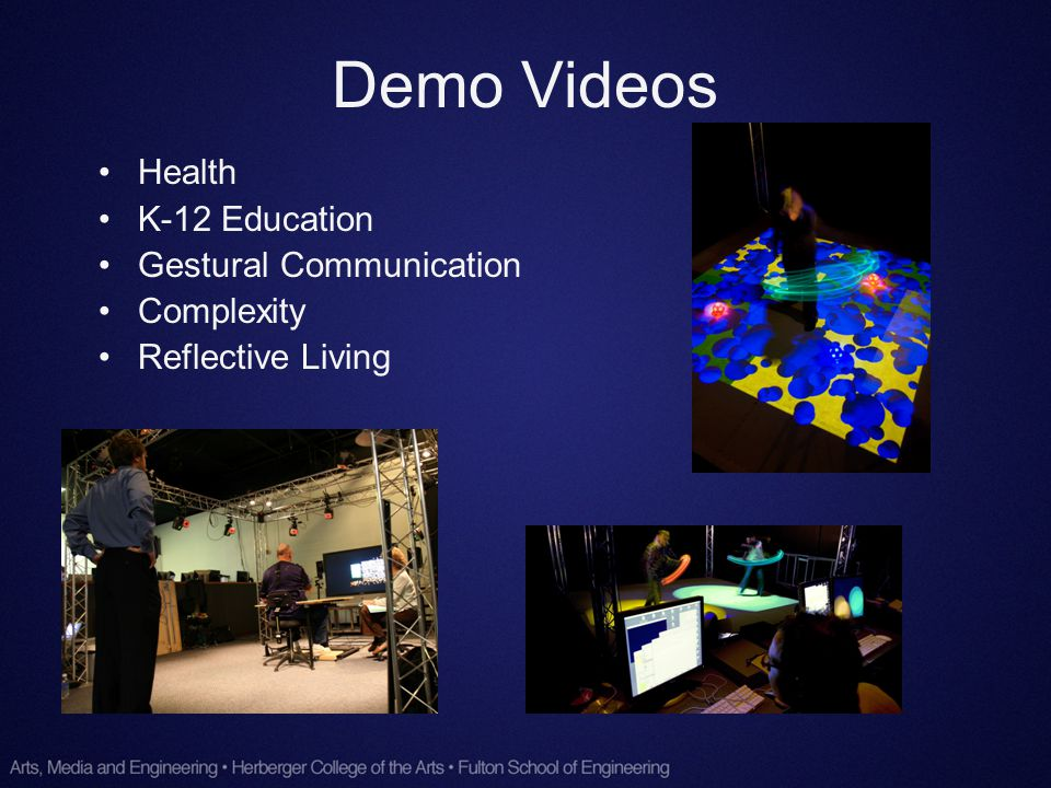 Demo Videos Health K-12 Education Gestural Communication Complexity Reflective Living