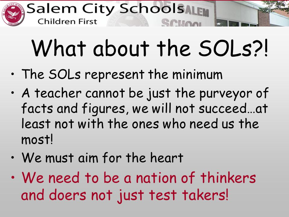 What about the SOLs .