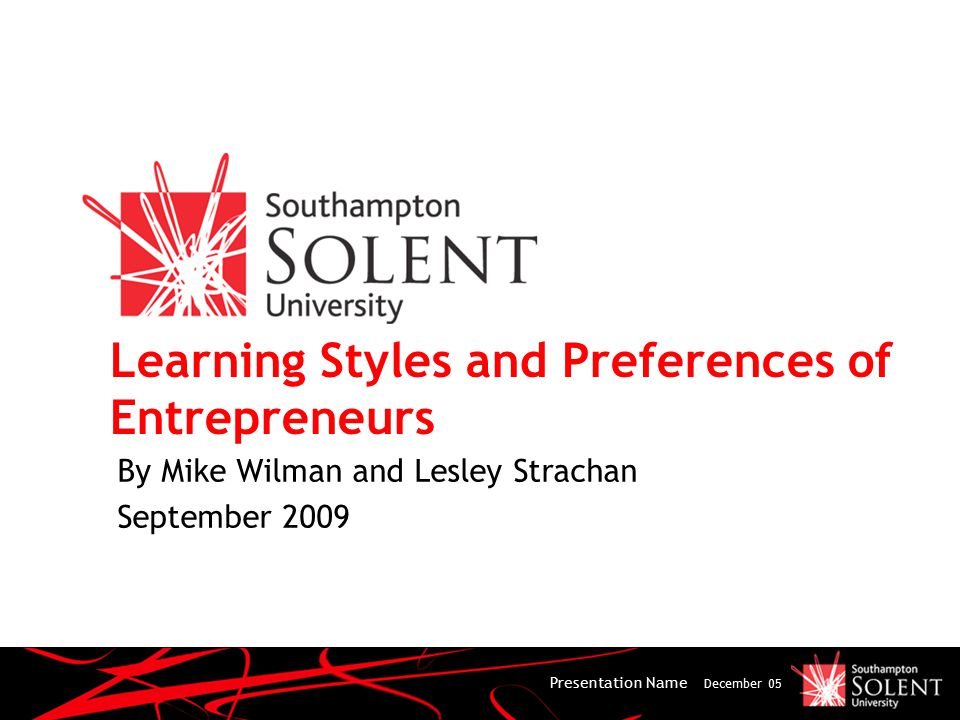 Potential Conclusions of research Reinforces the importance of Kolb's learning cycle, combining reflection with experimentation and abstractness with concreteness Can educators deliver skills to meet customers' preferences for training.