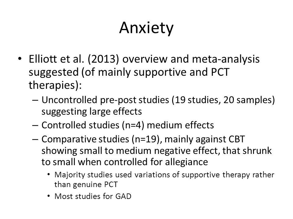 Anxiety Elliott et al.