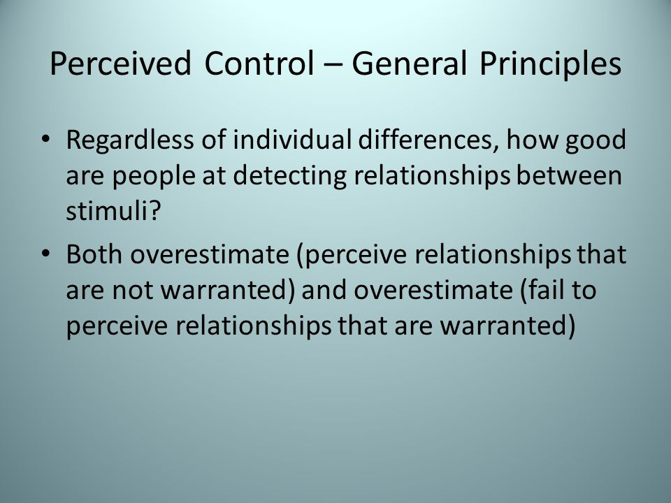Locus of Control Scale Better to be internal or external? Problems with scale? Captured by Big 5? Political correlates?