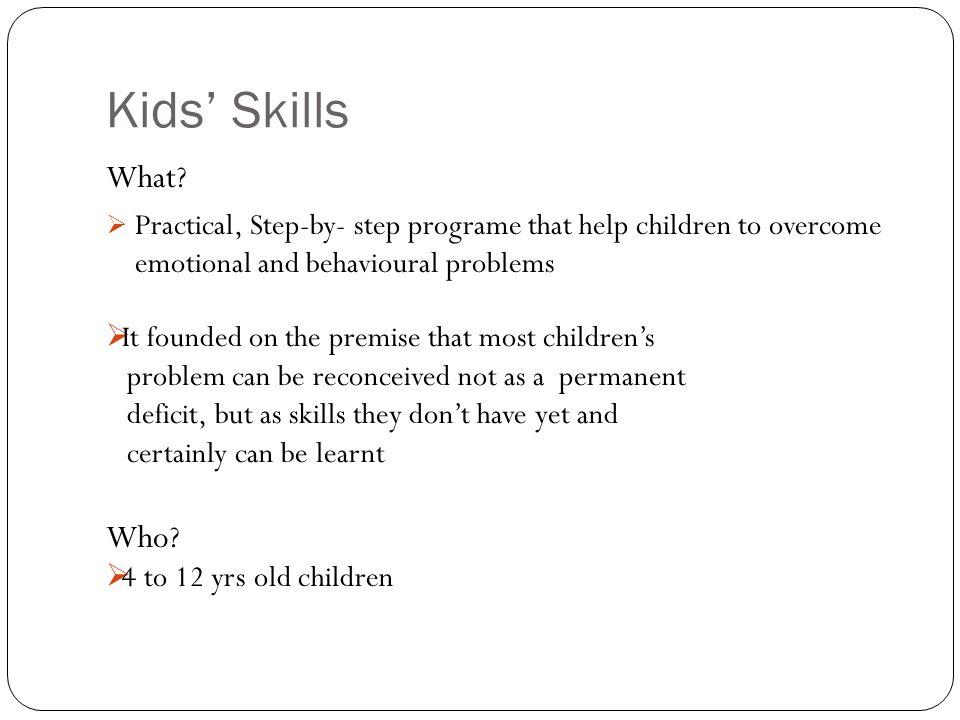 Kids' Skills What.