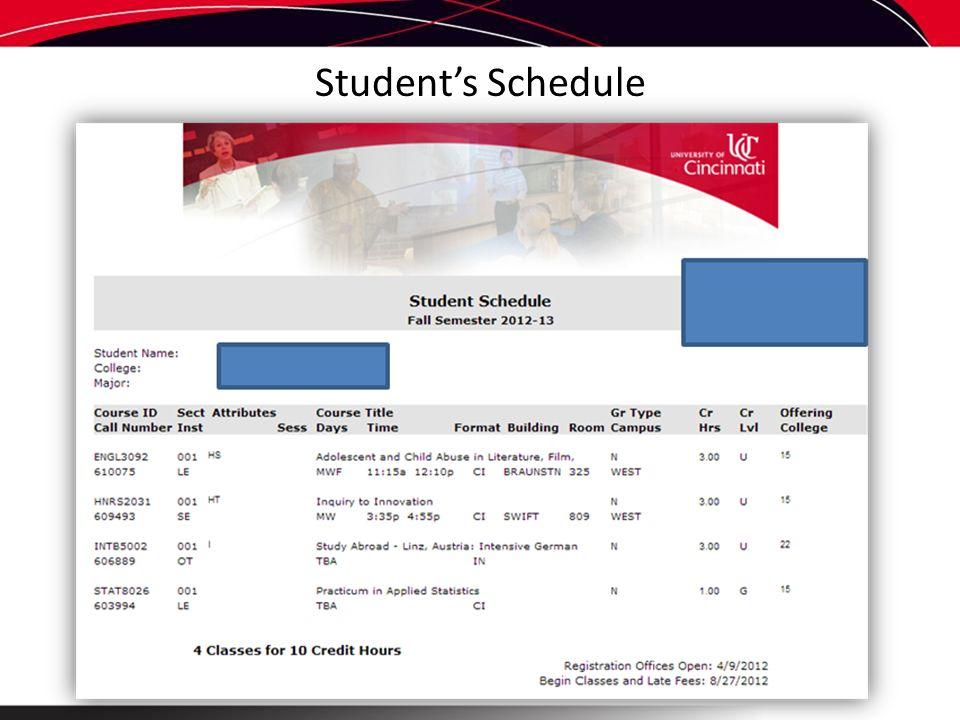 Student's Schedule