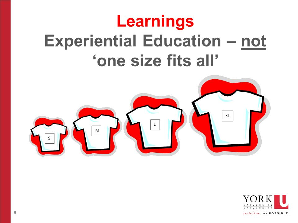 9 Learnings Experiential Education – not 'one size fits all'