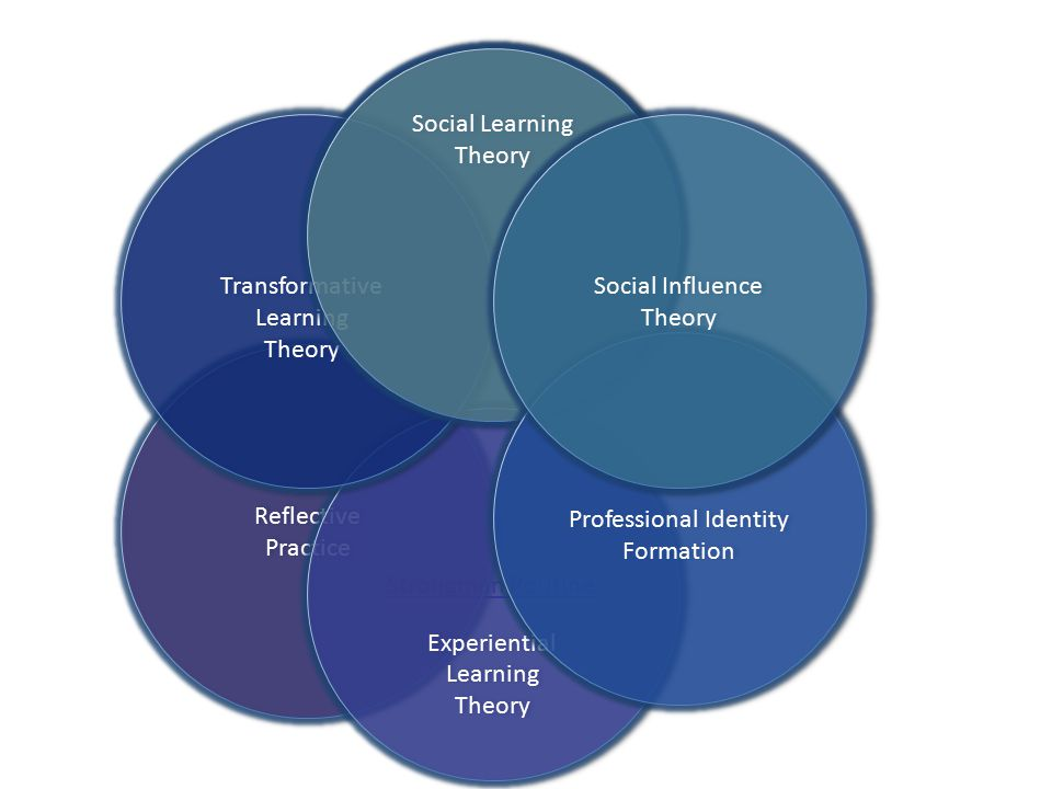 Social Learning Theory Social Learning Theory Strongman Routine Reflective Practice Reflective Practice Experiential Learning Theory Experiential Learning Theory Transformative Learning Theory Transformative Learning Theory Social Learning Theory Social Learning Theory Professional Identity Formation Social Influence Theory Social Influence Theory