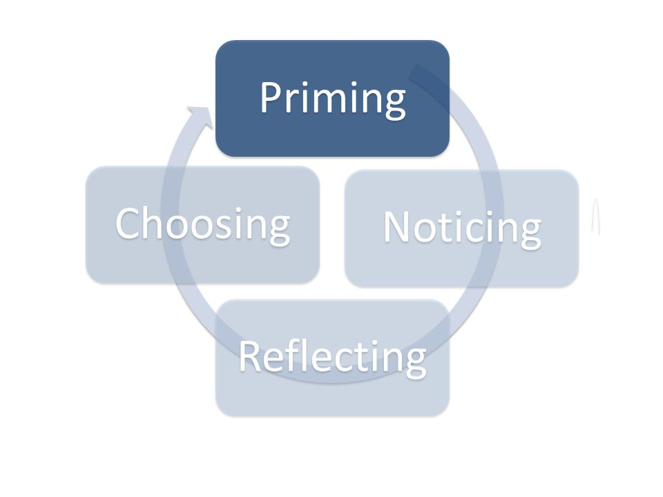 PrimingNoticingReflectingChoosing