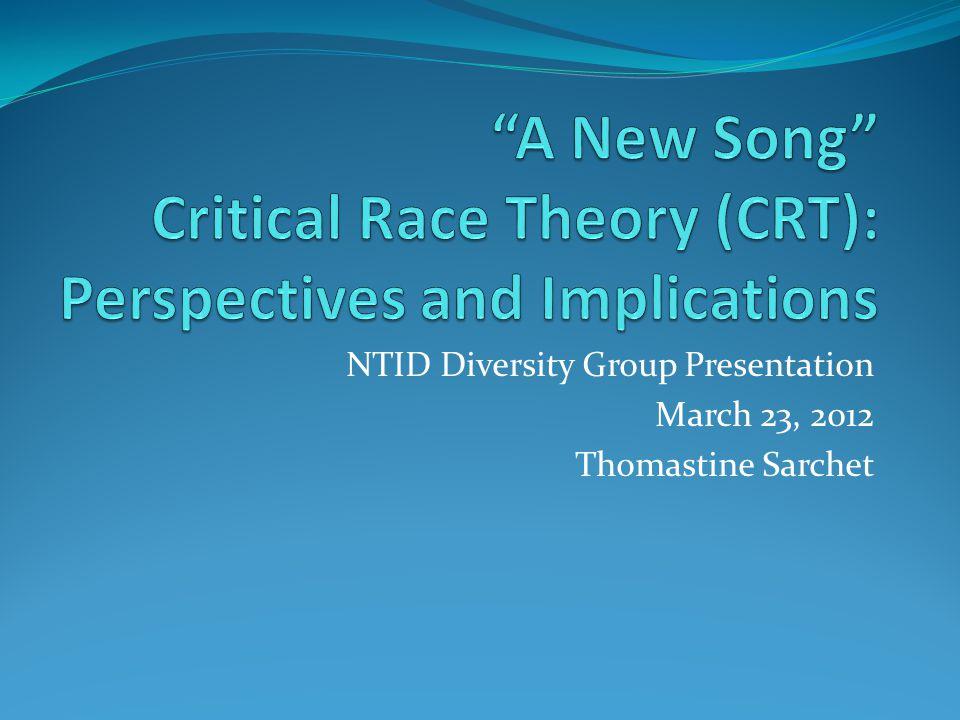 NTID Diversity Group Presentation March 23, 2012 Thomastine Sarchet