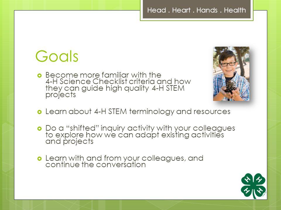 Agenda  Intro to Science Readiness, STEM Checklist  1.