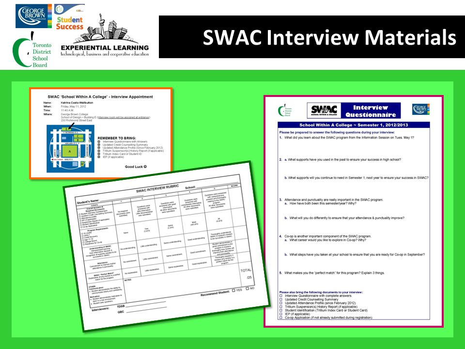 SWAC Interview Materials