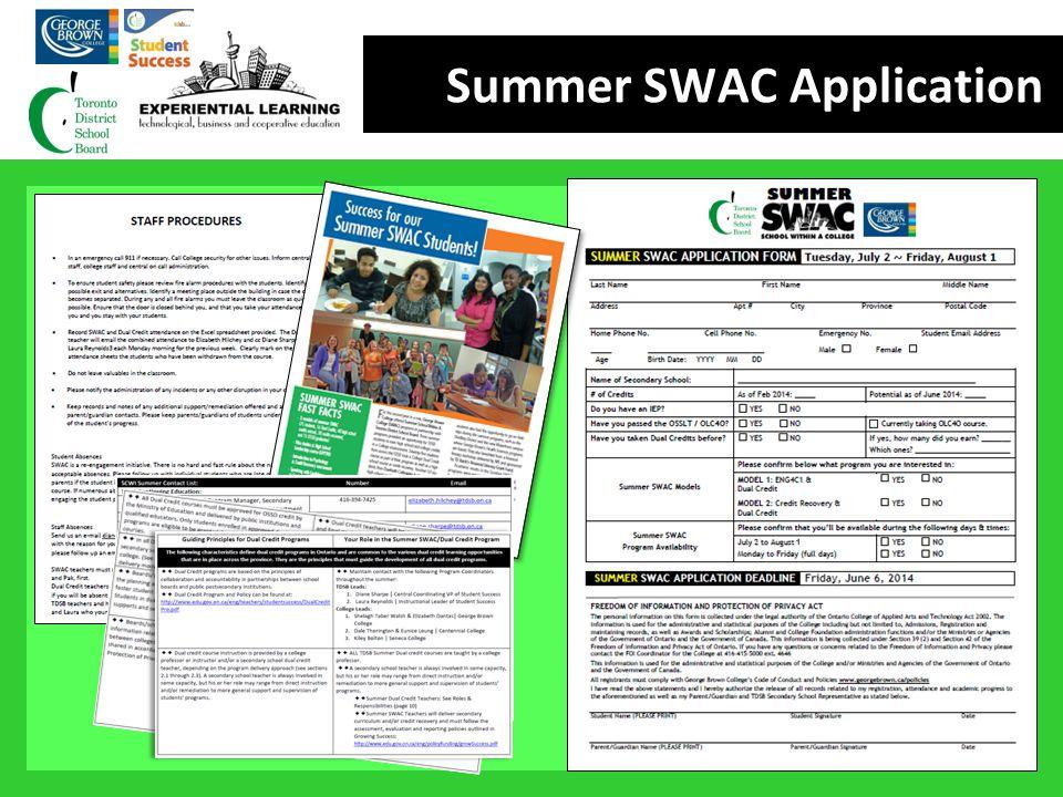 Summer SWAC Application 1