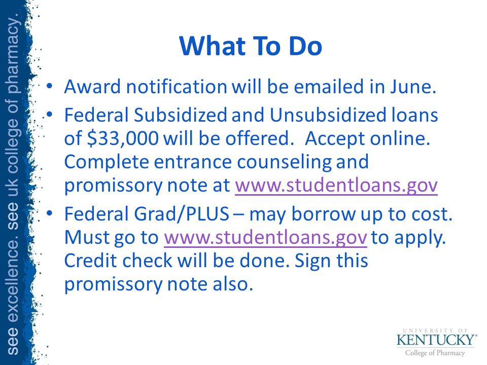 What To Do Award notification will be emailed in June.