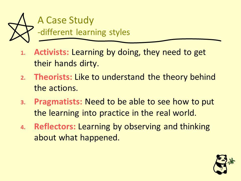 A Case Study 》 VARK: Four major sensory modes of learning: 1.