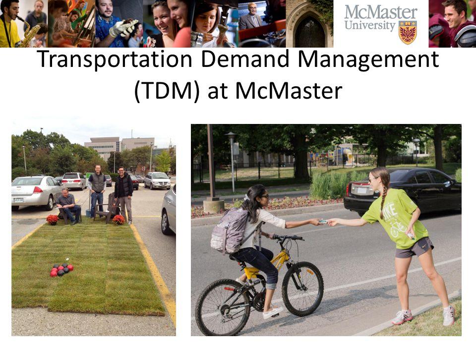 Transportation Demand Management (TDM) at McMaster