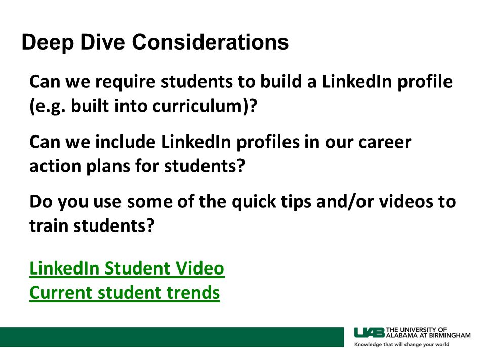 Can we require students to build a LinkedIn profile (e.g.