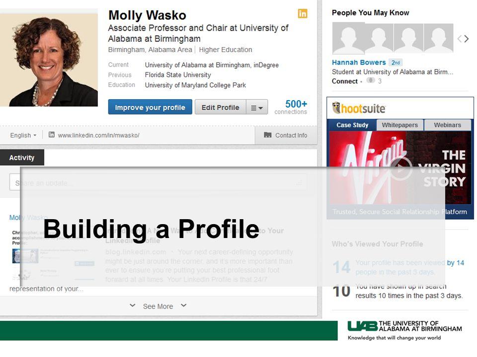 Building a Profile