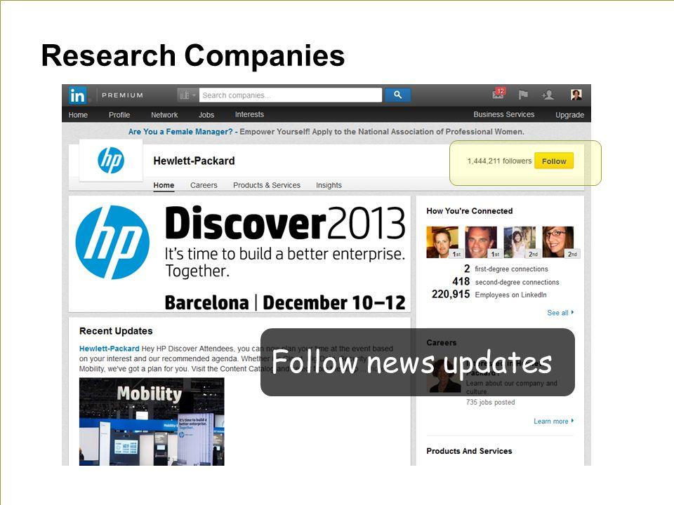 Research Companies Follow news updates