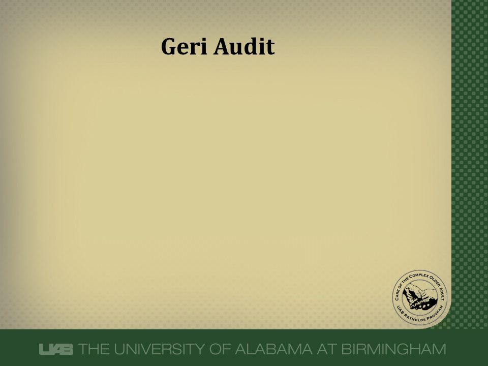 Geri Audit
