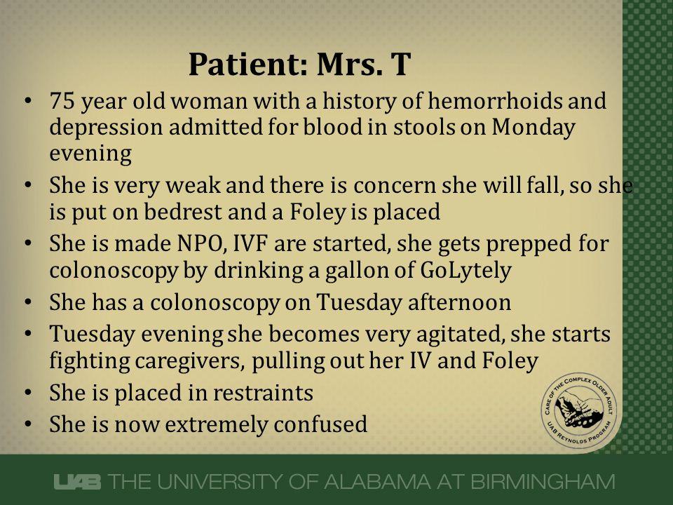 Patient: Mrs.