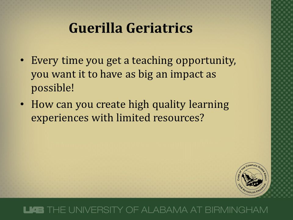 Every time you get a teaching opportunity, you want it to have as big an impact as possible! How can you create high quality learning experiences with