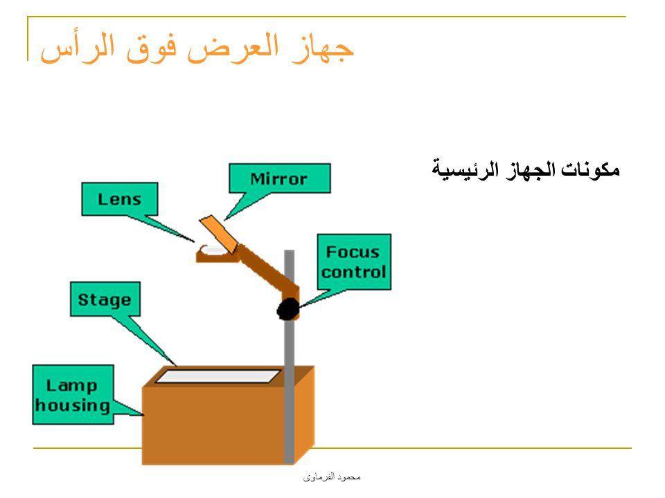 محمود الفرماوى جهاز العرض فوق الرأس مكونات الجهاز الرئيسية