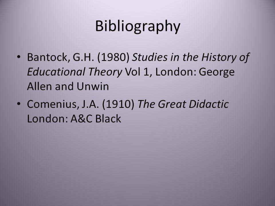 Bibliography Bantock, G.H.