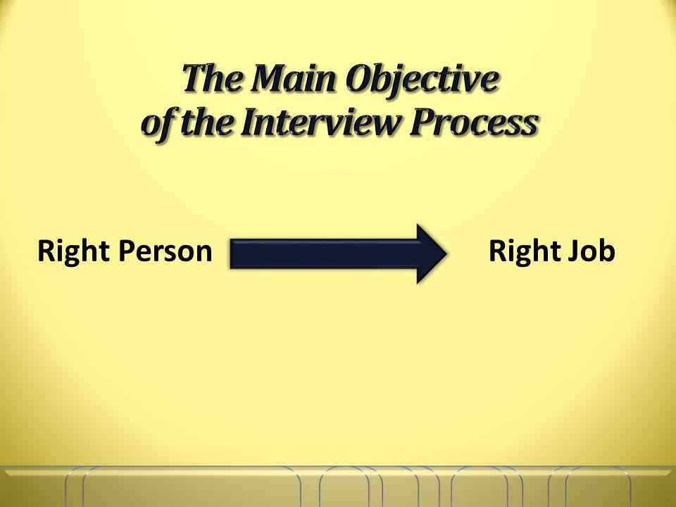 Right Person Right Job