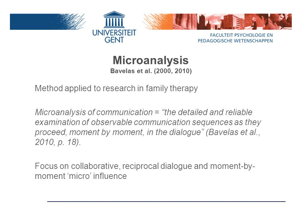 Microanalysis Bavelas et al.