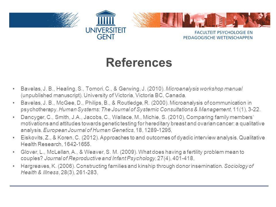 References Bavelas, J.B., Healing, S., Tomori, C., & Gerwing, J.
