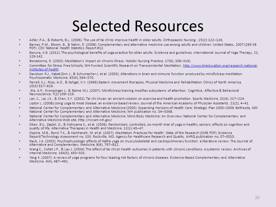 Selected Resources Adler, P.A., & Roberts, B.L. (2006).