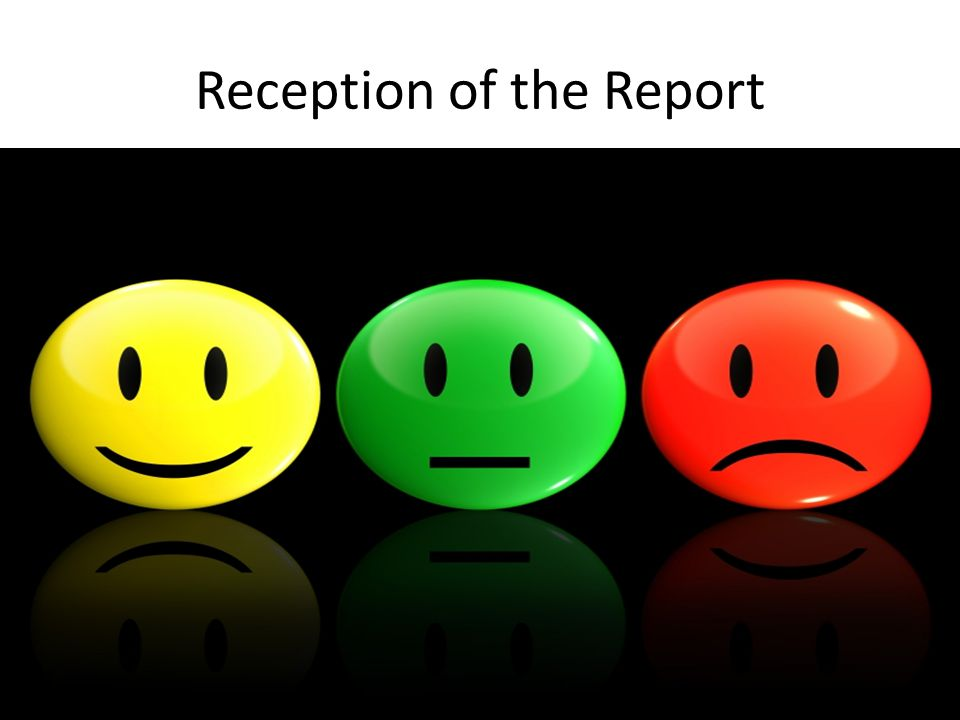 Reception of the Report