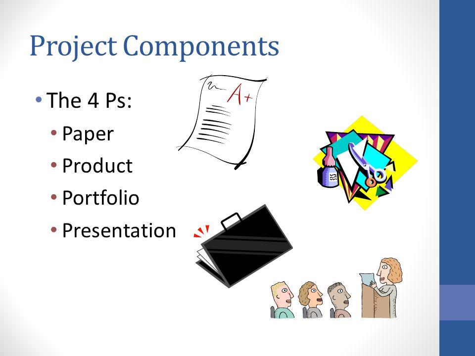 Project Components The 4 Ps: Paper Product Portfolio Presentation