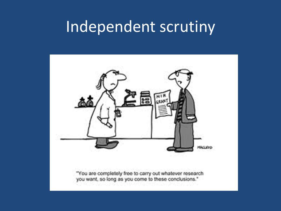 Independent scrutiny