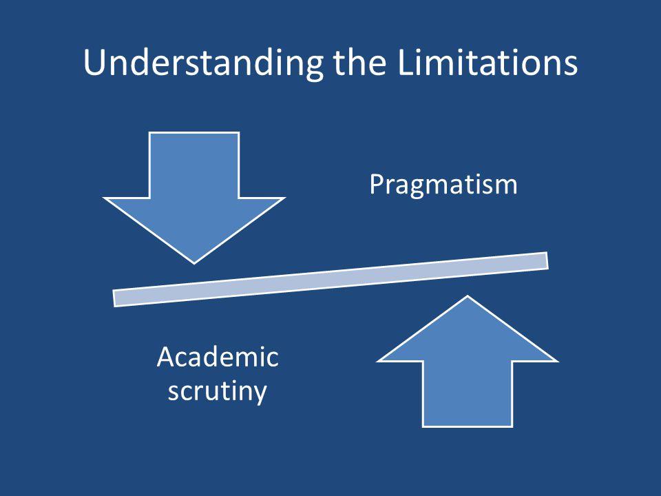 Understanding the Limitations Pragmatism Academic scrutiny
