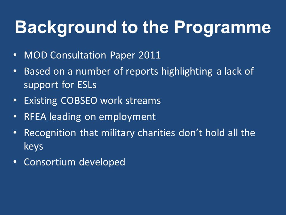 What is The Future Horizons Programme .