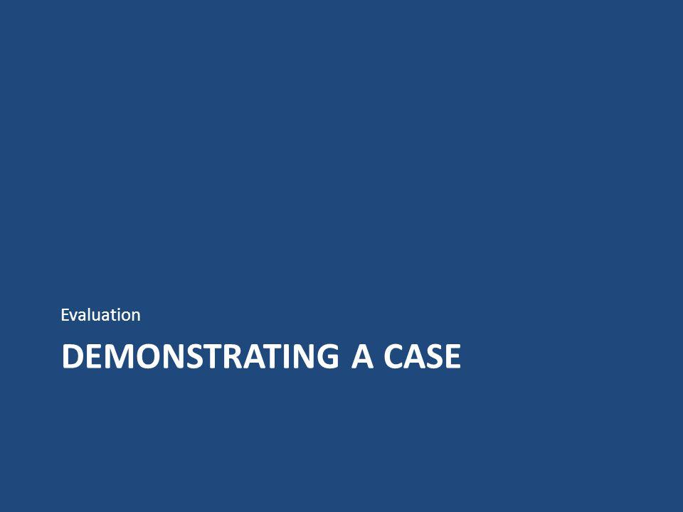 DEMONSTRATING A CASE Evaluation