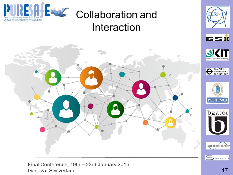 17 Final Conference, 19th – 23rd January 2015 Geneva, Switzerland Collaboration and Interaction