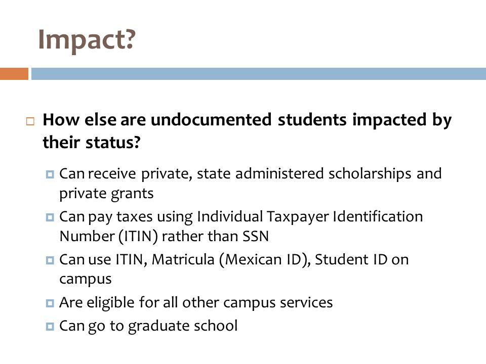  How else are undocumented students impacted by their status.