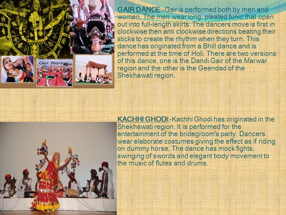 GAIR DANCE:-Gair is performed both by men and women.
