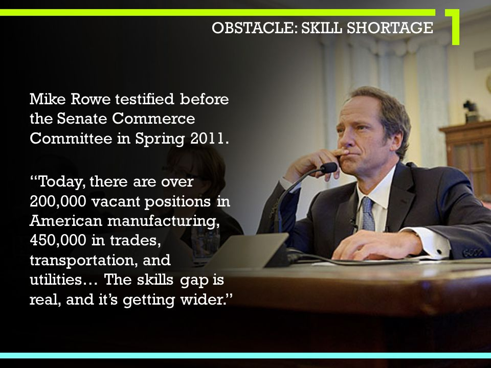 Mike Rowe testified before the Senate Commerce Committee in Spring 2011.