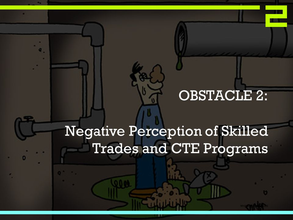 OBSTACLE 2: Negative Perception of Skilled Trades and CTE Programs worst-jobs.com