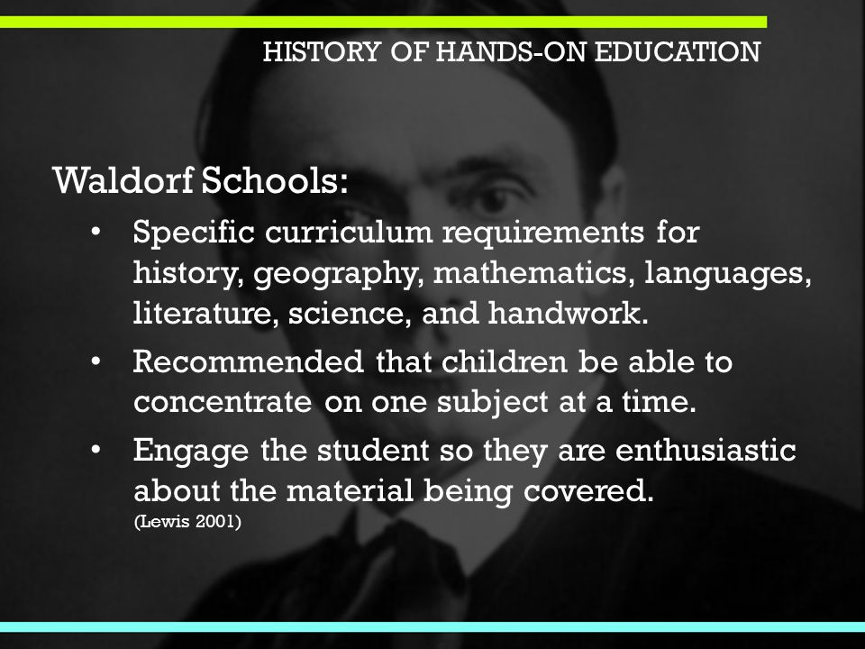 Waldorf Schools: Specific curriculum requirements for history, geography, mathematics, languages, literature, science, and handwork.
