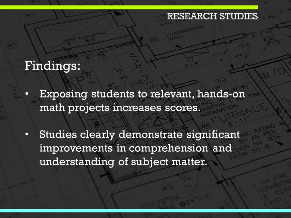 Findings: Exposing students to relevant, hands-on math projects increases scores.