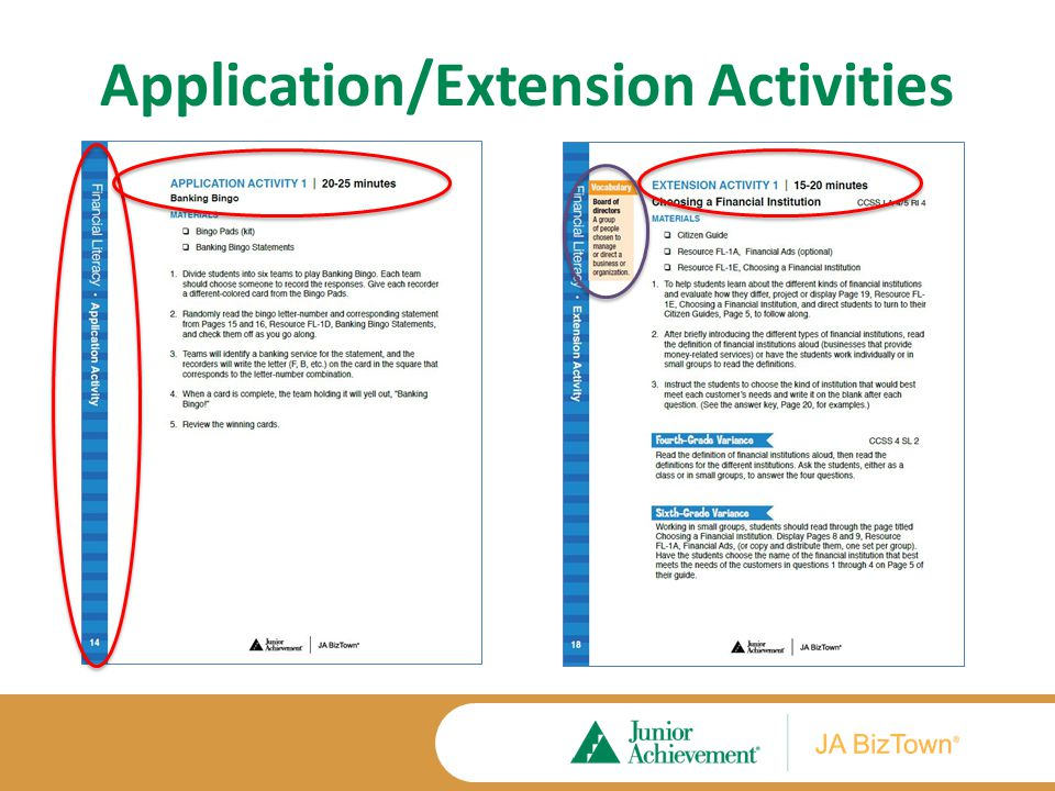 Application/Extension Activities