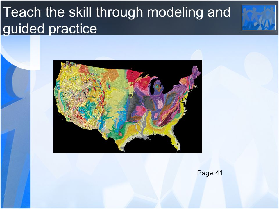 Teach the skill through modeling and guided practice Page 41