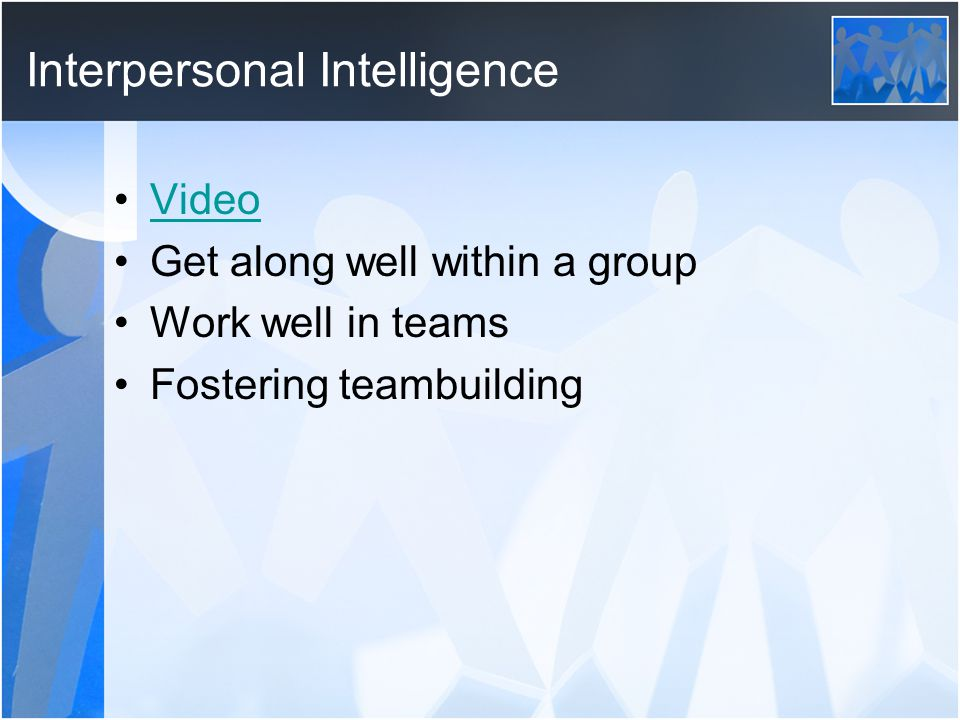Intrapersonal Intelligence Video