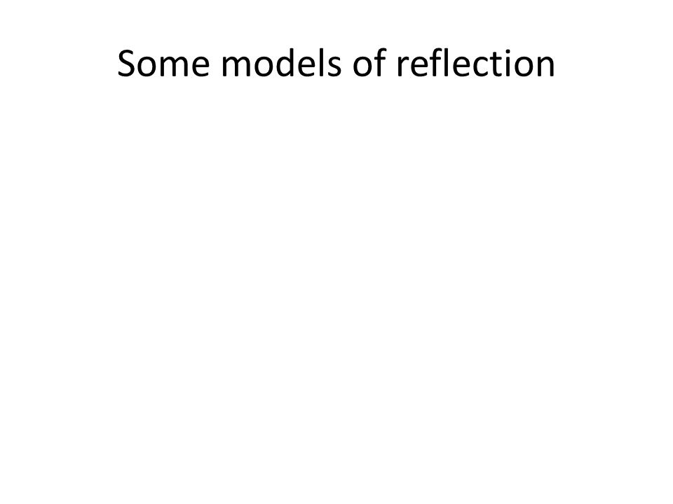 Some models of reflection