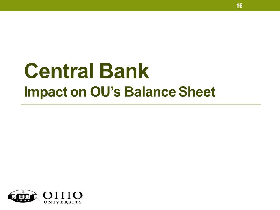 Central Bank Impact on OU's Balance Sheet 16