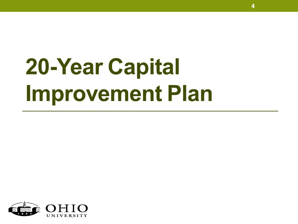 20-Year Capital Improvement Plan 4