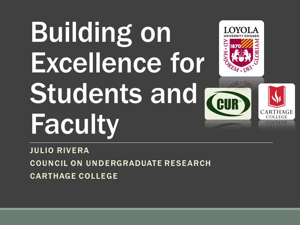 CUR is here to Help  To promote and support high quality undergraduate student-faculty research and scholarship  To help institutions build and enhance the infrastructure that increases undergraduate research  You are an institutional member