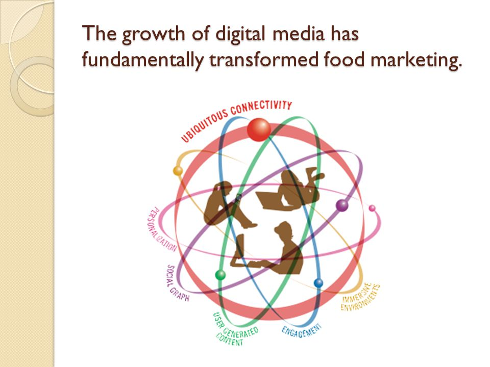 The growth of digital media has fundamentally transformed food marketing.